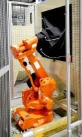 Robotos szemcseszóró